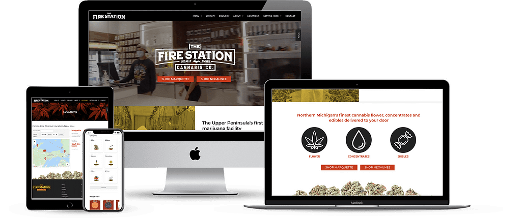 906 fire station dispensary wordpress website development