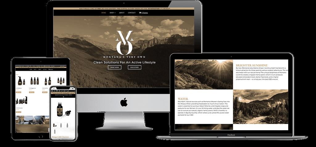 montanas very own mvo cbd wordpress website development