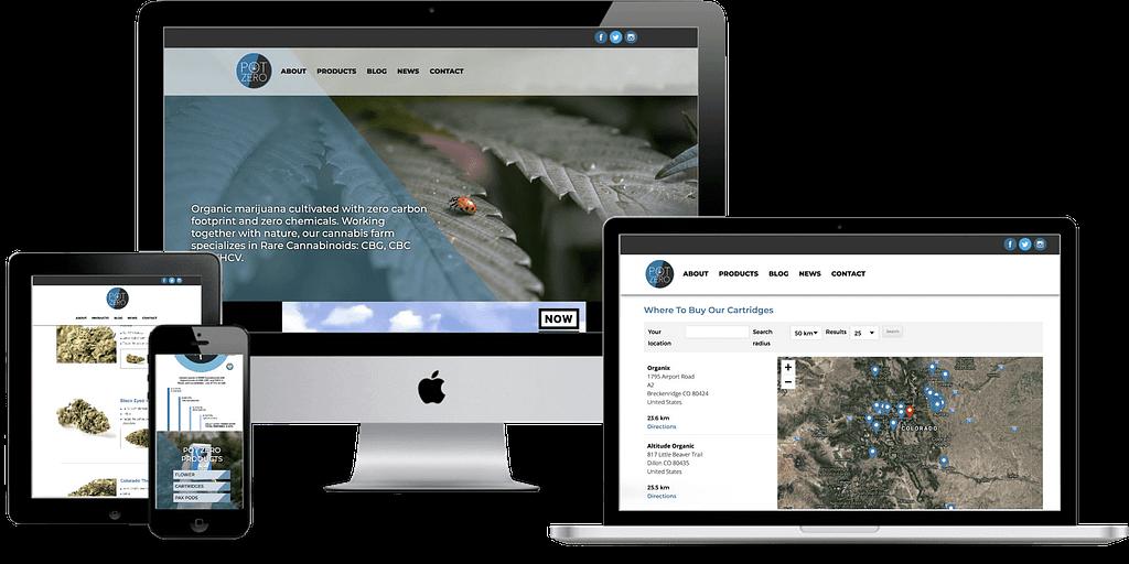 pot zero marijuana website design wordpress