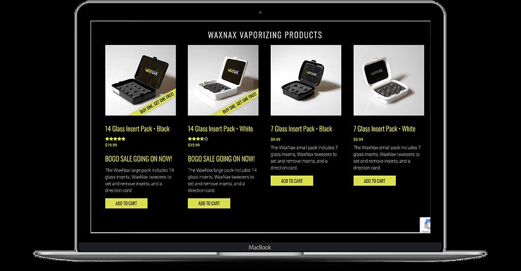waxnax cannabis website design