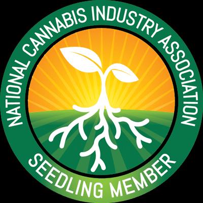 national cannabis industry association seedling member badge