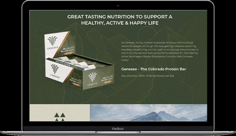genesee nutrition cbd website development laptoop
