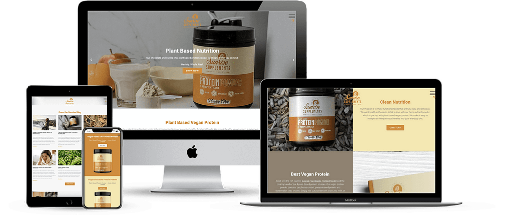 sunrise supplements hemp website development