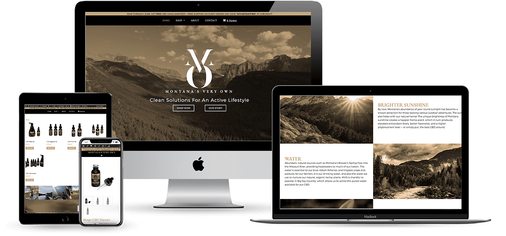 montanas very own mvo cbd wordpress website development