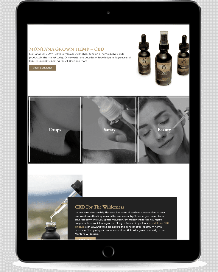 cbd ecommerce website development montanas very own mvo