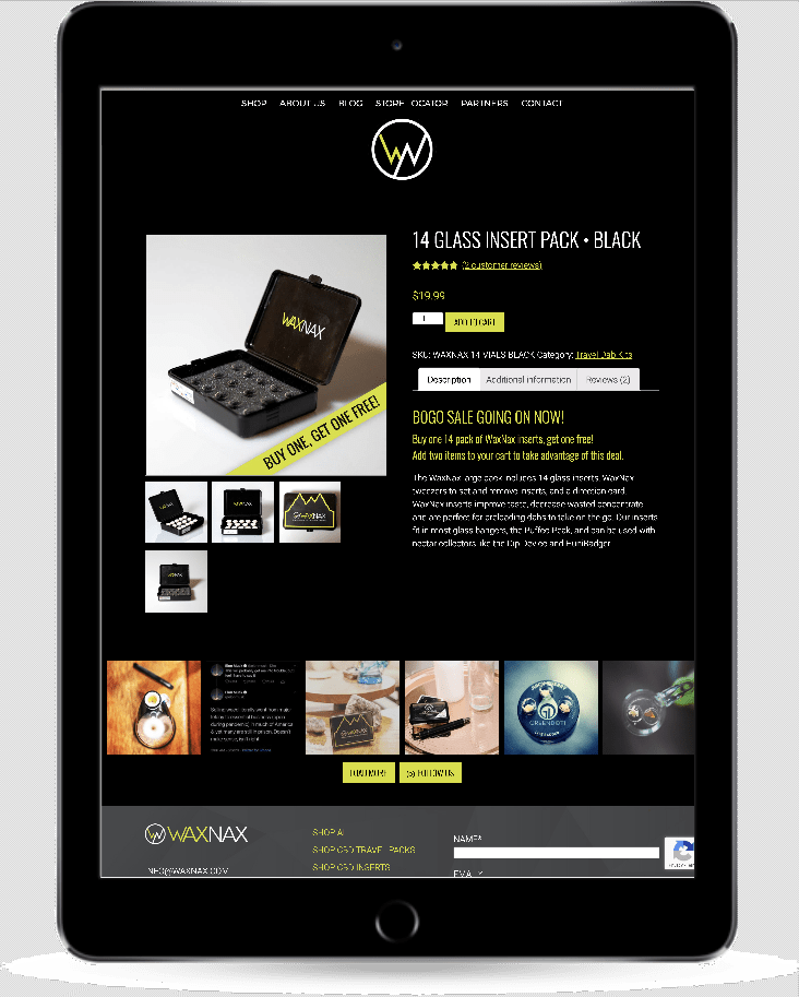 waxnax cannabis website design